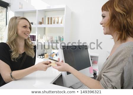 Stock photo: professional stylist business-card 2