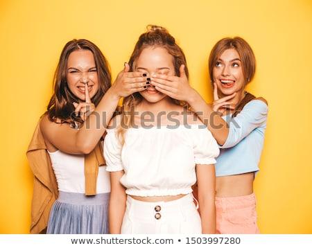 Sexy Mädchen Geschenke schönen Gruppe Stock foto © PawelSierakowski