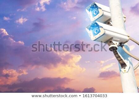 サーベイランス · カメラ · 閉店 · 回路 · テレビ · 水色 - ストックフォト © stevanovicigor