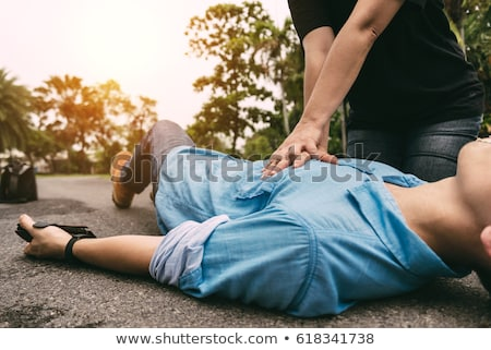 First aid. Cardiopulmonary resuscitation - CPR. Stock photo © wellphoto