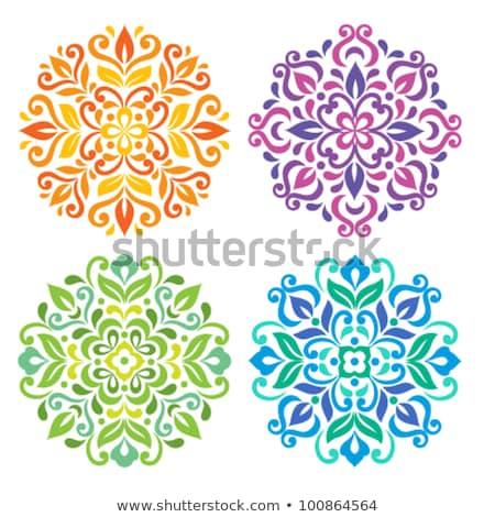 декоративный цветок силуэта шаблон круга кружево Сток-фото © cosveta