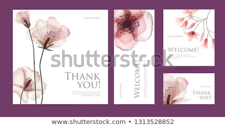 premium floral business card vector design illustration stock photo © sarts