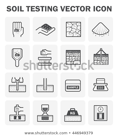 Construction icon with core drill Stock photo © bluering