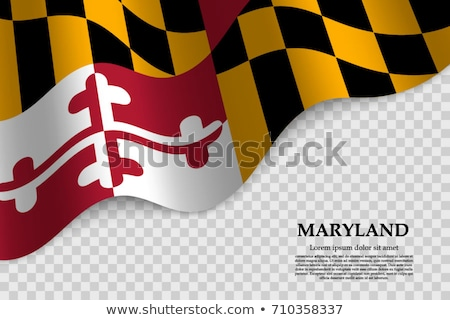 usa state maryland flag on white background stock photo © tussik