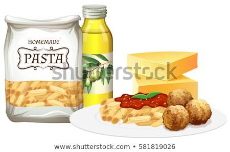 パスタ ミートボール 材料 実例 食品 ストックフォト © bluering