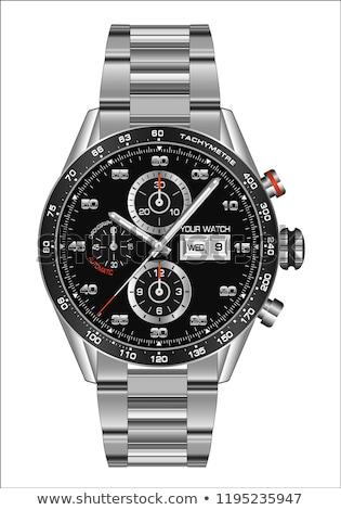 Illustratie luxe man horloge geïsoleerd witte Stockfoto © kayros