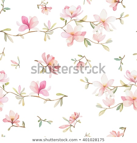 spring sakura seamless wallpaper vector illustration stock photo © carodi