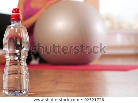 Vrouw sport fles zoetwater water muziek Stockfoto © Elnur