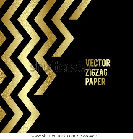 Banner design abstract modello oro zig-zag Foto d'archivio © fresh_5265954