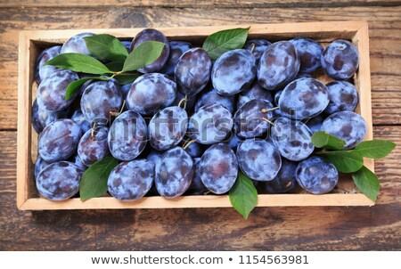 box of plums Stock photo © Digifoodstock