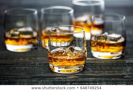 ストックフォト: 空っぽ · ガラス · ウイスキー · 孤立した · 白 · パーティ