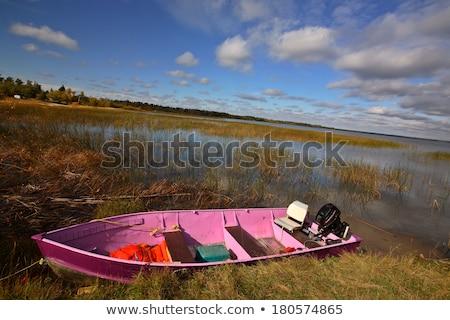 Pink boat in scenic Saskatchewan Stock photo © pictureguy