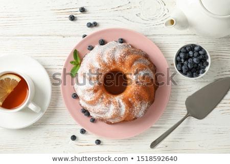 Marbre gâteau deux tranches coupé Photo stock © Digifoodstock