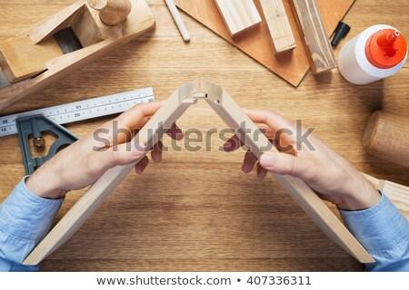 Stolarz złota rączka warsztaty biurko narzędzia różny Zdjęcia stock © stevanovicigor