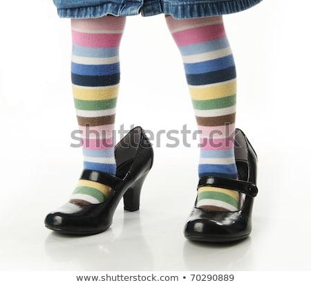 weinig · voet · baby · meisje · liefde · jongen - stockfoto © julenochek