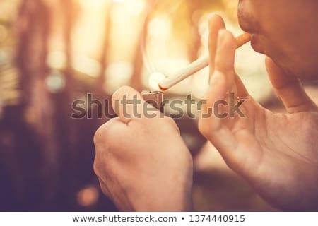 Homem fumador erva daninha parque saúde pensando Foto stock © wavebreak_media