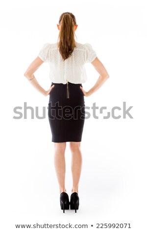 Mujer de negocios mano cadera blanco mujer Foto stock © wavebreak_media