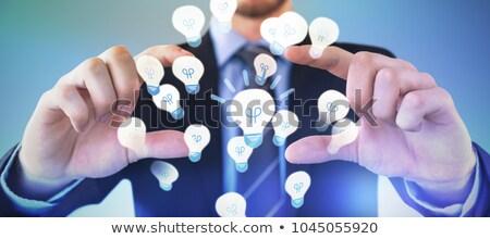 Középső rész üzletember visel öltöny hirdetés láthatatlan Stock fotó © wavebreak_media