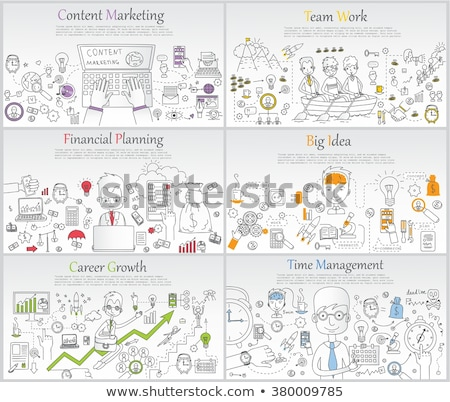 Content Marketing Concept with Doodle Design Icons. Stock photo © tashatuvango