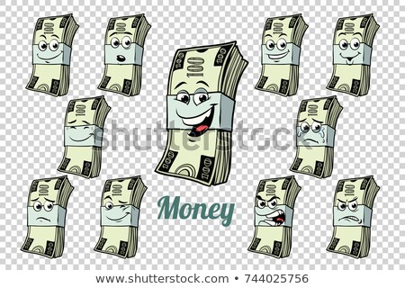 one hundred dollars cash packing emotions characters collection stock photo © rogistok
