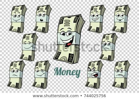 Um cem dólares numerário emoções Foto stock © rogistok