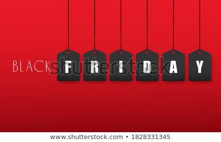 black · friday · ezüst · terv · kalligráfia · csillog · dekoráció - stock fotó © molaruso