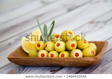 recheado · verde · azeitonas · vidro · vermelho · pimenta - foto stock © Digifoodstock