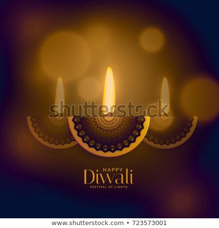 premium diwali old style design with creative diya Stock photo © SArts