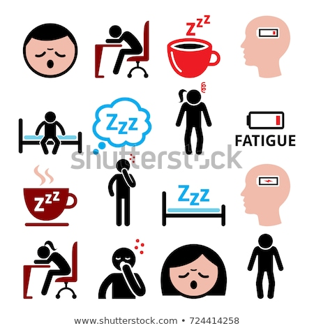 Fatigue vector icons set, tired, sressed or sleepy man and woman design Stock photo © RedKoala