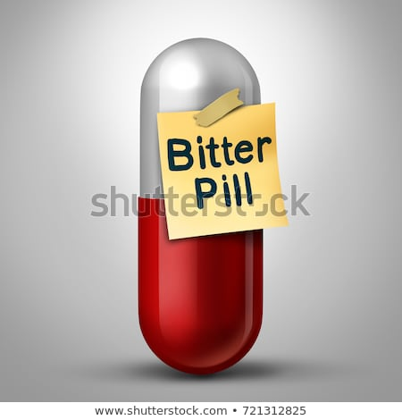 Amer pilule capsule médication note médecine Photo stock © Lightsource