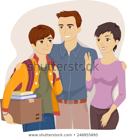 Mother sending son off to school Stock photo © IS2