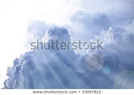 Beautiful cloudscape, white, dense clouds Stock photo © konradbak