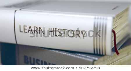 Stock fotó: üzlet · oktatás · könyv · cím · gerincoszlop · 3D