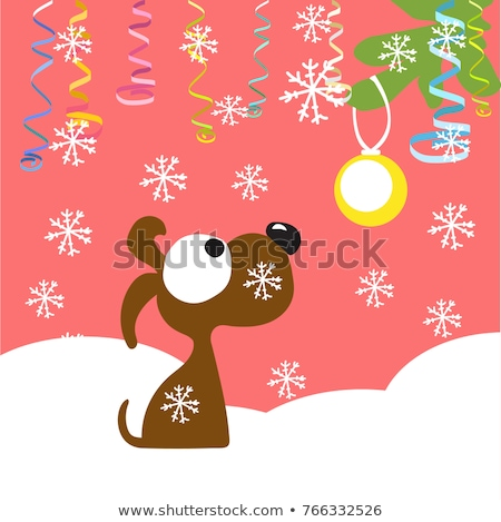 icon puppy of Christmas tree branches Stock photo © Olena