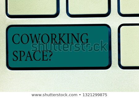 coworking service on keyboard key concept stock photo © tashatuvango