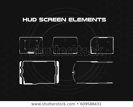 Futuristic head-up display on white background. Stock photo © almagami