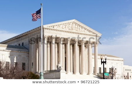 Statue in front of the United States Supreme Court in Washington, DC. Stock photo © dcslim