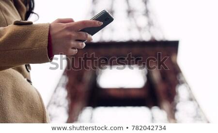 Paris · kadın · telefonu · kadın · konuşma · cep · telefonu - stok fotoğraf © motortion