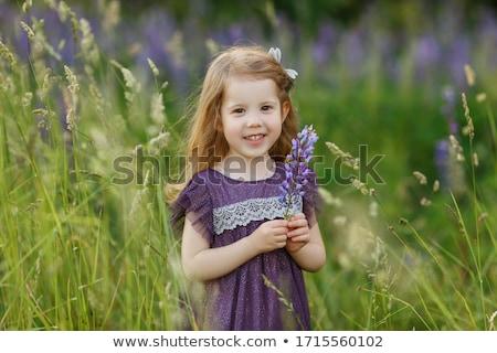 かわいい · 幸せ · 女の子 · 花束 · 花 · 肖像 - ストックフォト © dashapetrenko