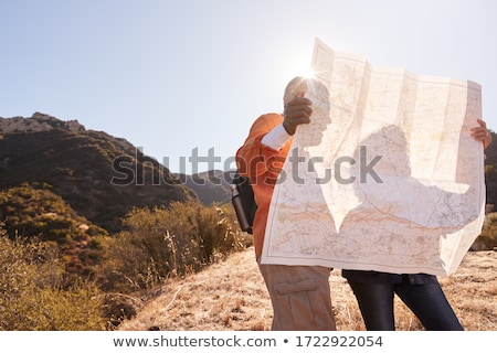 couple reading map stock photo © is2