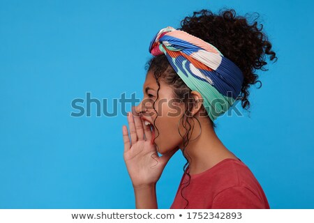 Female with her hair in curls, screaming Stock photo © IS2