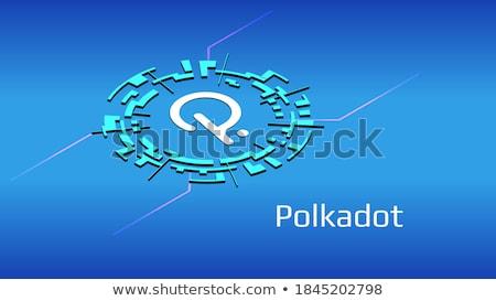 Mavi bitcoin dijital para daire afiş Stok fotoğraf © gladiolus