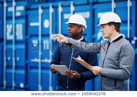 Workers standing together in shipyard Stock photo © IS2