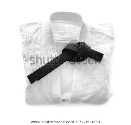 Karate uniform gordel Rood zwarte dienst Stockfoto © wavebreak_media