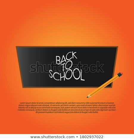 Okula geri başlık sözler gerçekçi okul renkli Stok fotoğraf © ikopylov