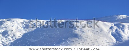 panoramic view on off piste slope in early morning stock photo © bsani
