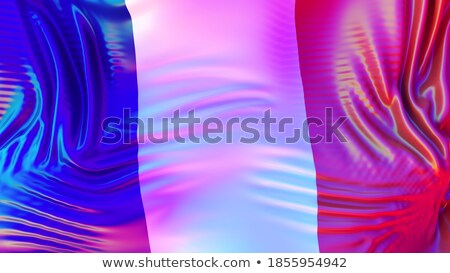 France LGBT flag. French Symbol of tolerant. Gay sign rainbow Stock photo © popaukropa