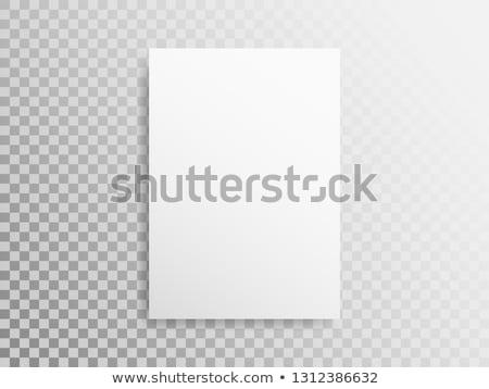 Papel vertical banner cubrir transparente blanco Foto stock © romvo