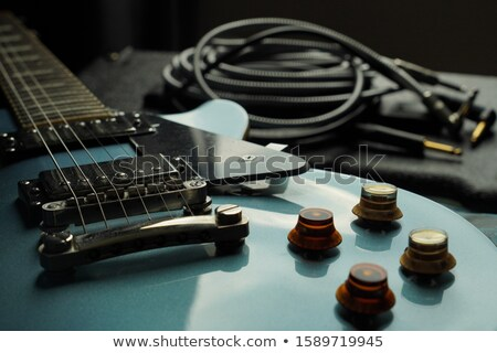 Electric guitar with amp and power speakers Stock photo © tracer