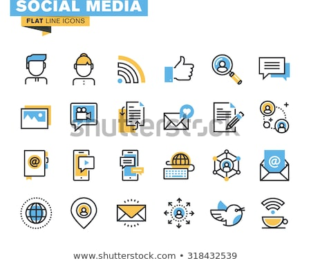 lijn · business · kantoor · internet · pictogrammen · vector - stockfoto © puresolution